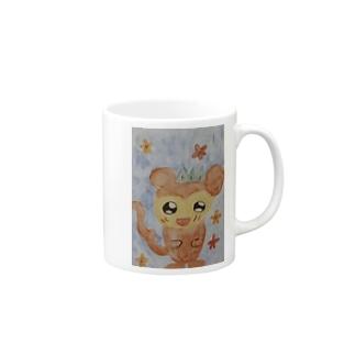 愛らしいリスザル Mugs