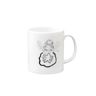 輝く星と天使 Mugs