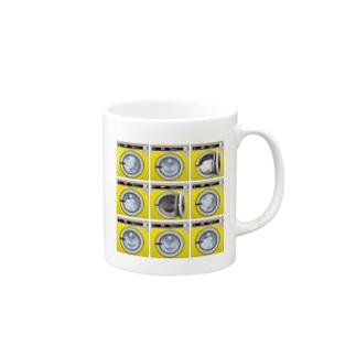 コインランドリー Coin laundry【3×3】 マグカップ