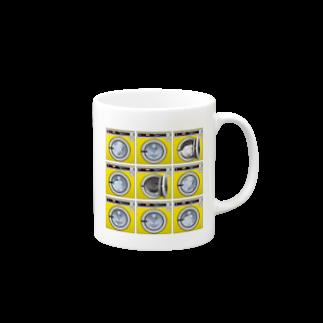 TOMOKUNIのコインランドリー Coin laundry【3×3】 Mugs