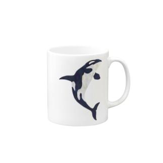 ブリーチングシャチ Mugs