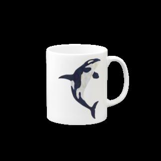 gomaphのブリーチングシャチ Mugs