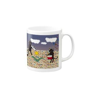 虹色の砂 マグカップ