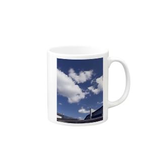ふぁっショーン blue Mugs