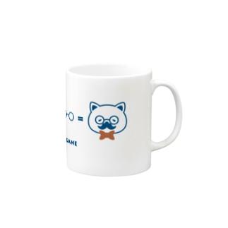 ネコ+ヒゲ+メガネ マグカップ