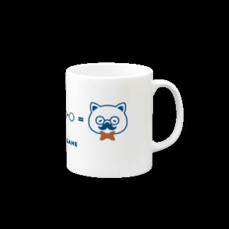 チョッちゃんのネコ+ヒゲ+メガネ Mugs