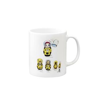 ヤノベケンジ《サン・チャイルド》(マトリョーシカシリーズ)  Mugs