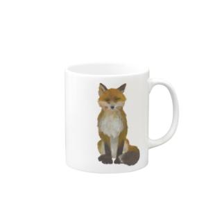 ふさ尾っぽキタキツネ Mugs