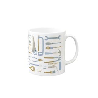 tools_blue Mugs