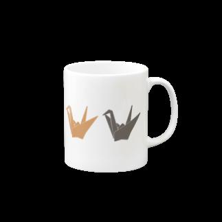 ░▒▓SMIRKWORM▓▒░のPAPERCRANE Mugs
