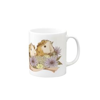 お花とモルモット06 Mugs