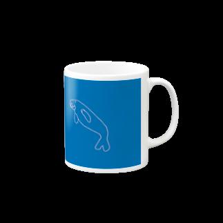 3out-firstのジュゴン(破線) Mugs