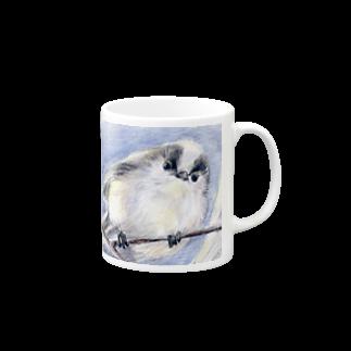 リラのエナガマグカップ