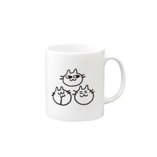 猫人間三人衆 Mugs
