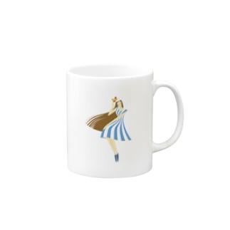 summer (ライトブルー) Mugs