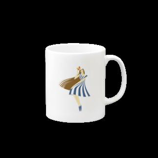 - さらさら -のsummer (ネイビーブルー) マグカップ