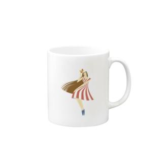 - さらさら -のsummer (ピンク) Mugs