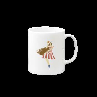 - さらさら -のsummer (ピンク)マグカップ