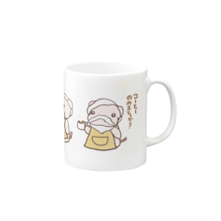 すあだショップのぶたたんのコーヒーのみまとぅか?マグカップ Mugs