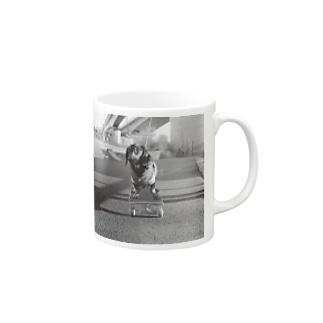 Skating Dog Mugs