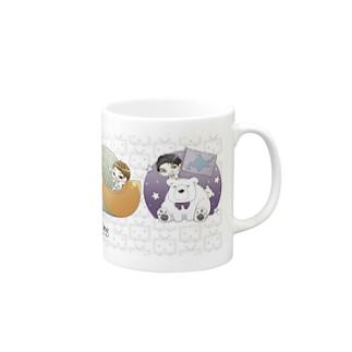 EverZOne×niconicoマグカップ白 Mugs
