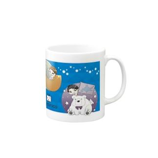 EverZOne×niconicoマグカップ青 Mugs
