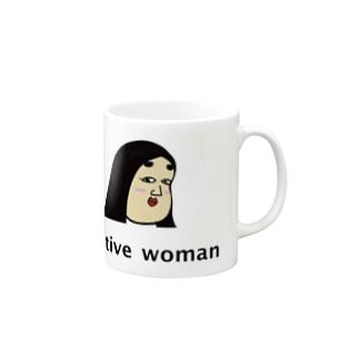 positive woman 式部 Mugs