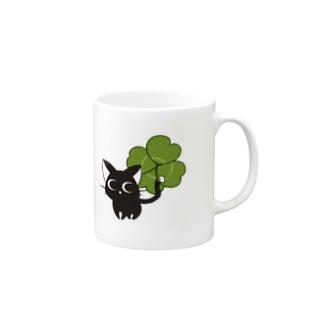 黒猫ダルとクローバー Mugs