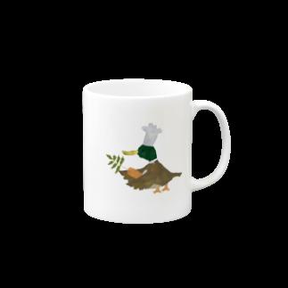 きらきらひかるのカモのコックさんマグカップ