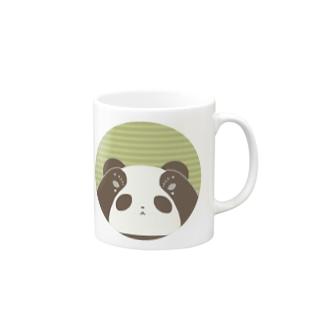 覗き込みくま(白黒) Mugs