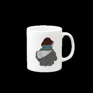 北極の後ろ姿 マグカップ