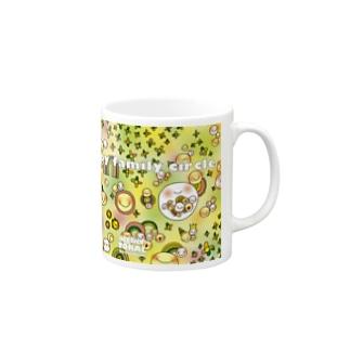 happy family circle Mugs