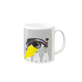 アイくまトリオ Mugs