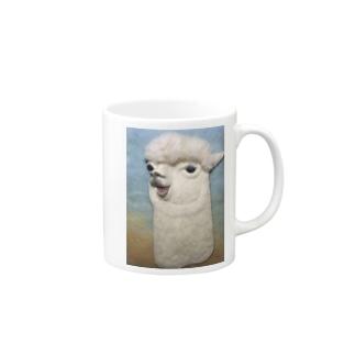 おしゃべりアルパカ Mugs