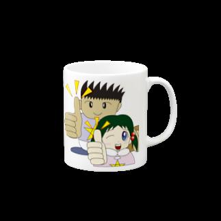 WANPA's STOREのわんぱ君としおりちゃん マグカップ