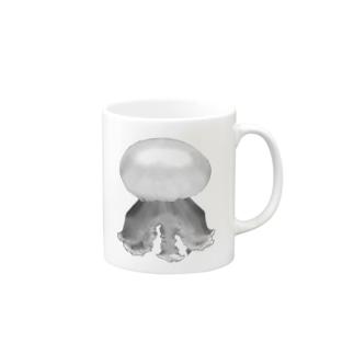 ANOMALのクラゲ ルテウムジェリー(モノクロ) Mugs