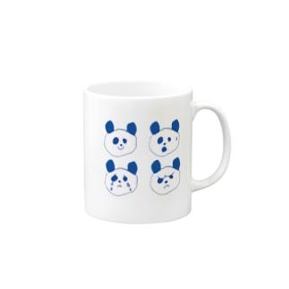 ゆるぱんだの四面相(パンダ) Mugs