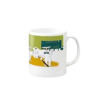 犬とベースボールのガンバgoods マグカップ