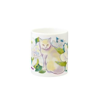 Flower cat Mugs