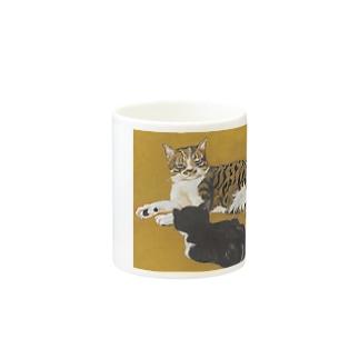 樽猫堂  安部円子の「まること小さいはな」 Mugの取っ手の反対面