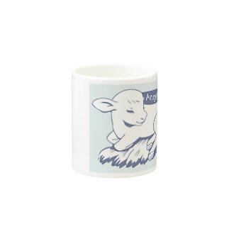 Angelic Calf ブルー Mugs