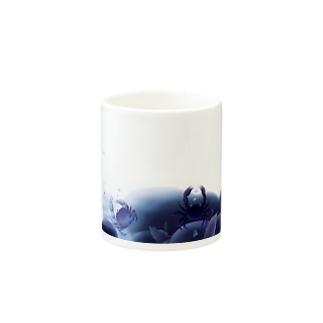 青い川底 マグカップ