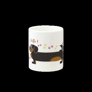 似顔絵 KURI屋のダックスフント💙 Mugsの取っ手の反対面