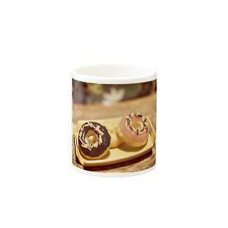 【スイーツ】Prism coffee beanのミニチュアドーナツ Mugs