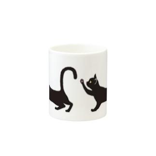 黒ネコ Mugs