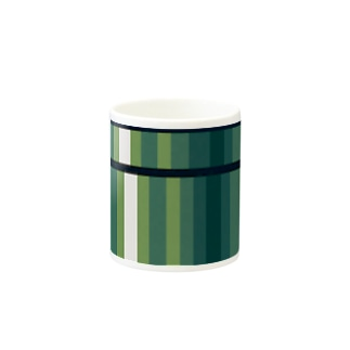 緑のストライプ Mugs