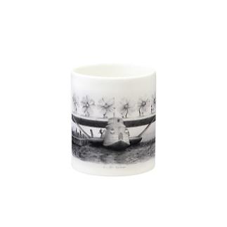 コスモスのプロペラの飛行艇 Mugs