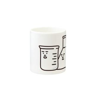 ビーカーくんとそのなかまたちロゴ Mugs