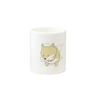 突きぬ犬(茶) Mugs