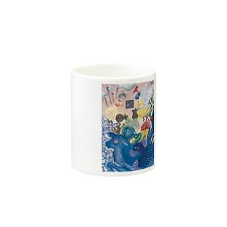 幻獣ペリュントと妖精 Mugs